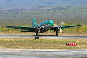 Buffalo Airways - Former Buffalo Airways C-GTXW C-46A at Norman Wells Airport