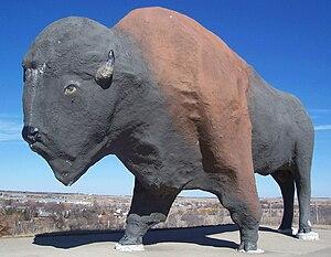 Jamestown, North Dakota - The World's Largest Buffalo statue in Jamestown