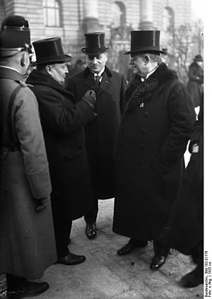 Bavarian People's Party - Heinrich Held with Friedrich Ebert, January 1925
