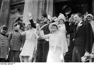 Otto Christian Archibald von Bismarck - The wedding of the Prince of Bismarck and Ann-Mari Tengbom, in the Berliner Dom, 1928. President Paul von Hindenburg, members of the cabinet and representatives of the Swedish embassy were present