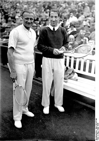 René Lacoste - Lacoste (right) with Otto Froitzheim