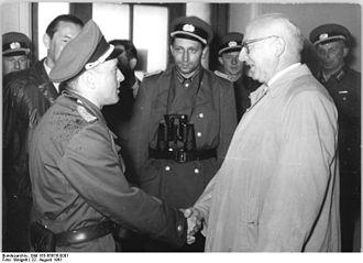Ernst Goldenbaum - Ernst Goldenbaum and Volkspolizei (Berlin Wall, 1961).