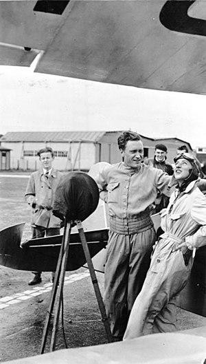 Gerhard Fieseler - Gerhard Fieseler at the Aerobatic Championship, Berlin-Tempelhof 1931