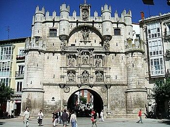 Arco de Santa María, en Burgos