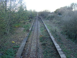 Burn Naze Halt railway station - Image: Burn Naze Station during early restoration
