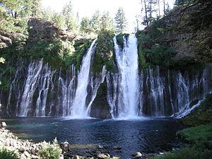 Burney Falls - Image: Burney falls from below