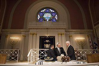 Sixth & I Historic Synagogue - Image: Bush at 6th & I