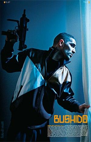 Bushido (rapper) - Bushido in a Malcolm-X-pose, Berlin 2008