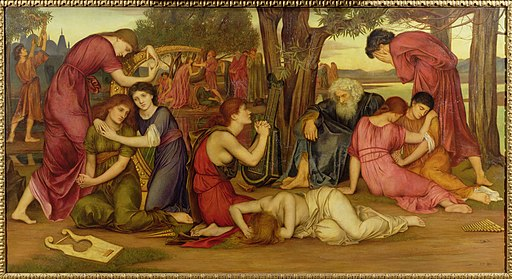 Evelyn De Morgan, By the Waters of Babylon, 1882-1883. Wikimedia Commons,