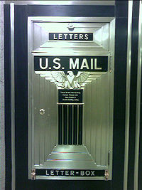 Lobby mailbox at the Chicago Board of Trade.