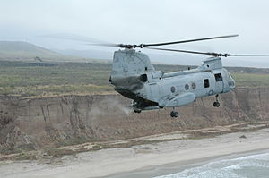 VMM-166 - Phrog from HMM-166 spreads the ashes of its former CO over Camp Pendleton in July 2005