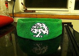 Headband - A headband depicting the Tree of Currier House (Harvard College)