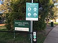 COVID-19 information sign at a sports ground in Melbourne.jpg