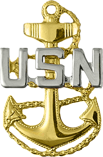 Chief petty officer (United States) - The collar and cap device of a U.S. Navy chief petty officer.