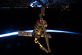 CRS Orb-2 Cygnus 3 S.S. Janice Voss grappled by Canadarm2 (ISS040-E-063769).jpg