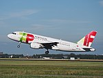 CS-TTN TAP Air Portugal Airbus A319-111 cn1120 takeoff from Schiphol (AMS - EHAM), The Netherlands pic1.JPG