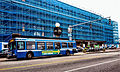 CT Transit bus and New Haven Union Station, September 2014.jpg