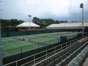 Clemson Tigers women's tennis - Hoke Sloan Tennis Center, the home courts of the Clemson Tigers women's tennis team.