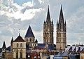 Caen Château de Caen Blick auf die Abbaye aux Hommes.jpg