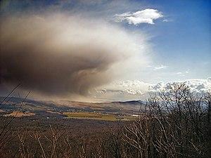 Caernarvon Township, Lancaster County, Pennsylvania - A snow squall over Caernarvon Township
