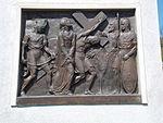 Calvary of Karl I of Austria. Station 5. Simon of Cyrene helps Jesus carry the cross. - Tihany.JPG