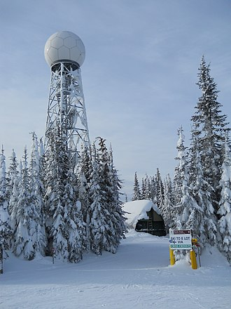 Canadian weather radar network - Station CXSS at Silver Star Mountain