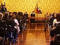 """Canciller Patiño acompaña a Presidente Correa durante condecoración con la """"Orden de San Lorenzo en Grado de Gran Collar"""" a Michelle Bachelet (4691793846).jpg"""