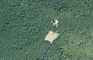 """Presidential Emergency Facility - An aerial view of the decommissioned Presidential Emergency Facility """"Cannonball"""" in rural Pennsylvania."""