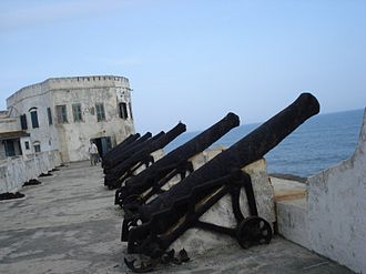Cape Coast Castle - Cannon at the Cape Coast Castle