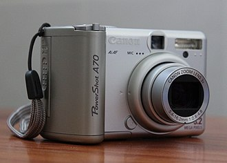 Canon PowerShot A - Image: Canon Power Shot A70 (side view)