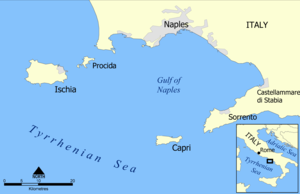 Sorrento Peninsula - Map of the Gulf of Naples