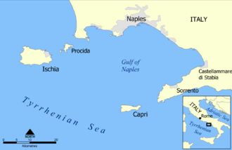 Gulf of Naples - Regional map of the Gulf of Naples.