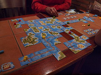 Carcassonne (board game) - A game of Carcassonne: South Seas