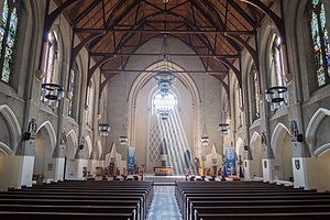 Cardiff Metropolitan Cathedral - The nave of the cathedral