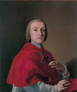 Cardinal antonio sersale, by francesco de mura