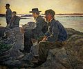 Carl Wilhelm Wilhelmson - On Rocks at Fiskebackskil.jpg