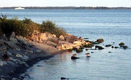 litoral canadiense del lago ontario