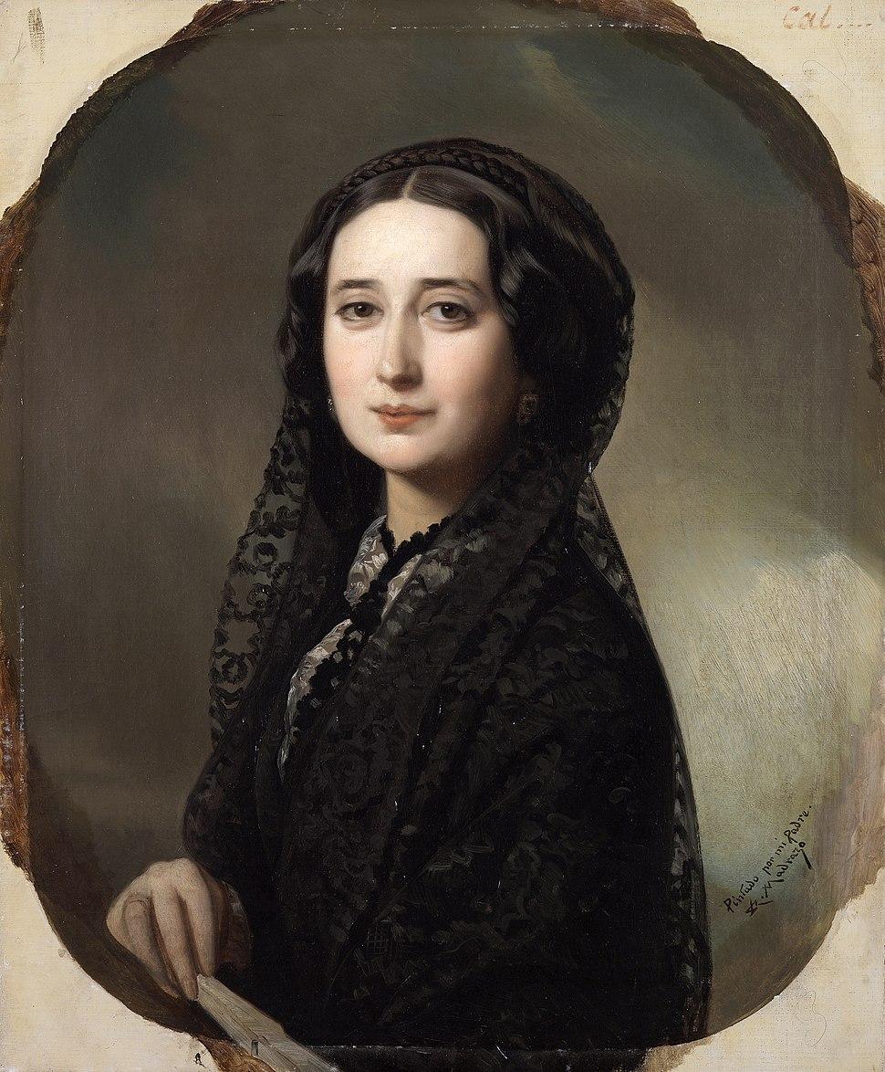 Carolina Coronado, por Federico de Madrazo