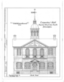 Carpenters' Company Hall, 320 Chestnut Street and Carpenters' Court, Philadelphia, Philadelphia County, PA HABS PA,51-PHILA,229- (sheet 1 of 3).png