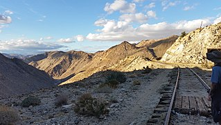Carrizo Gorge valley in San Diego County, United States of America