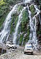 Cars crossing waterfall - Annapurna Circuit, Nepal - panoramio.jpg