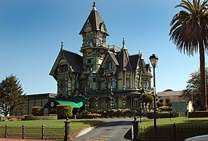 Queen Anne style architecture in the United States - The Carson Mansion located in Eureka, California is considered one of the finest examples of American Queen Anne style architecture.