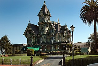 Encroachment: photo of Carson Mansion - Eureka