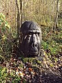 Carving of gorilla in Linford Wood - geograph.org.uk - 1596174.jpg