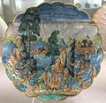 Casteldurante, bottega di andrea da negroponte, supplizio di perillo, 1550-60 ca..JPG