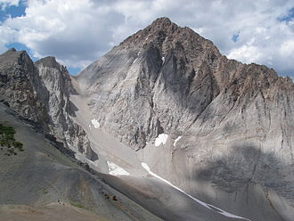Idaho Batholith - Castle Peak is the highest point on the Idaho Batholith