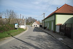 Center of Lesůňky, Třebíč District.JPG