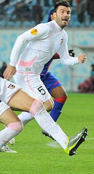 Cesare Bovo - Bovo in action during CSKA Moscow–Palermo on 4 November 2010