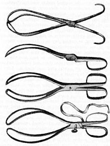 Chamberlen forceps as found in Malden