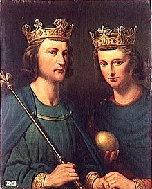 右がカルロマン2世で左はルイ3世/Wikipediaより引用